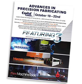 Capital's Advances in Precision Fabricating Show Brochure